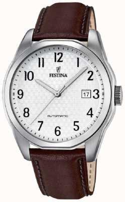 Festina Mens Automatic Brown Leather Strap F16885/1
