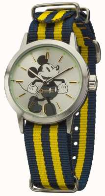 Disney By Ingersoll Unisex Classic Blue Yellow Nylon Strap DIN006SLYL
