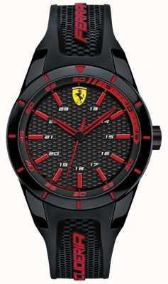 Scuderia Ferrari Unisex Red Rev Black Rubber Strap 0840004