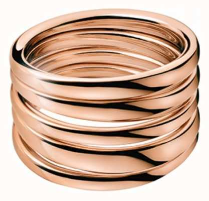 Calvin Klein Sumptuous Rose Gold PVD Plated Ring KJ2GPR100107