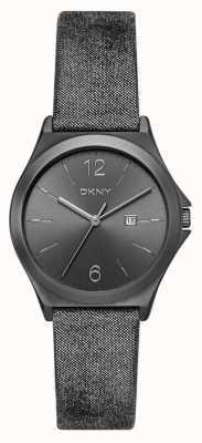 DKNY Womens Parsons Gunmetal Leather NY2373