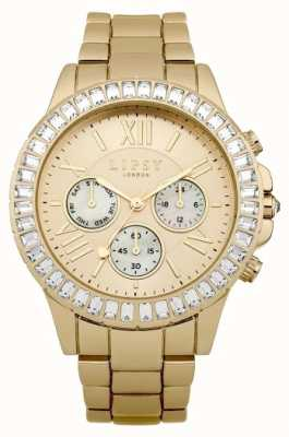 Lipsy Womens Gold PVD Plated White Dial LP380