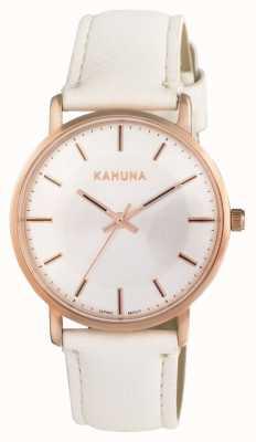 Kahuna Womens White Strap White Dial KLS-0324L