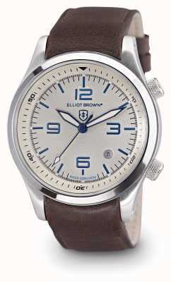 Elliot Brown Men's Canford Brown Leather White Dial 202-001-L09