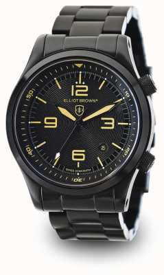Elliot Brown Men's Canford Black PVD Plated Black Dial 202-002-B04
