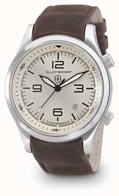 Elliot Brown Mens Canford Brown Leather Ivory Dial 202-003-L08