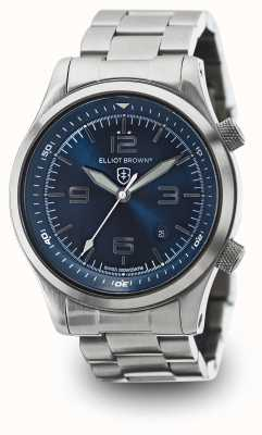 Elliot Brown Mens Canford Stainless Steel Blue Dial 202-007-B02