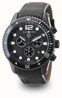 Elliot Brown Men's Bloxworth Black Leather Black Dial 929-001-L01