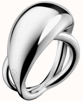 Calvin Klein Fluid Stainless Steel Ring Size O KJ3XMR000107