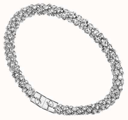 Guess Womens Stone Set Silver Tone Bracelet UBB81332