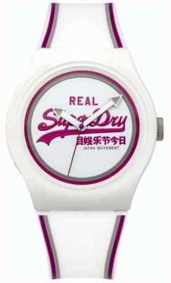 Superdry Unisex Urban Retro White And Purple Rubber SYG198WR