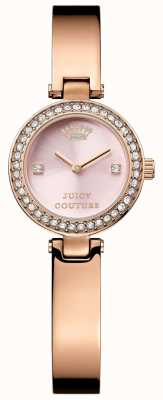 Juicy Couture Womens Rose Gold Strap Pink Dial 1901226
