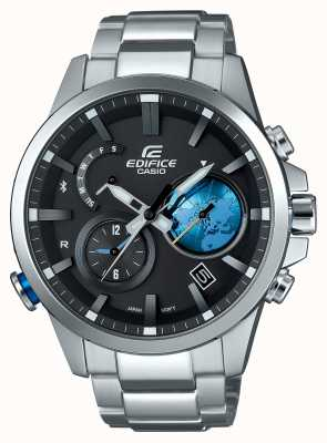 Casio Edifice Bluetooth Sync Tough Solar Smartwatch Day/Date EQB-600D-1A2ER