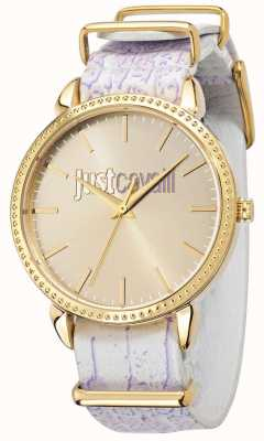Just Cavalli Just All Night 38mm Yellow Gold Plated Dial R7251528503