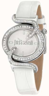 Just Cavalli Sin Silver Dial With White Strap R7251591502