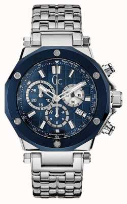 Gc Gc-3 Sport Chic Collection Stainless Steel Blue Dial X72027G7S