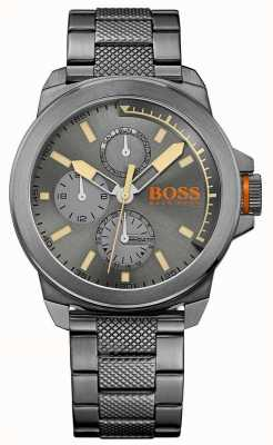 Hugo Boss Orange Mens Newyork Grey IP Steel 1513319