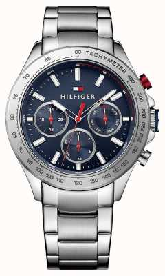Tommy Hilfiger Mens Hudson Stainless Steel Blue Dial 1791228