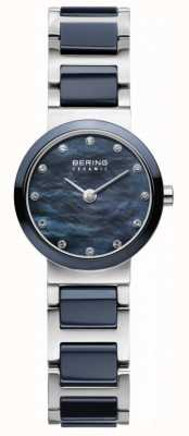Bering Womens Blue Dial Blue Silver Plated Strap 10725-787