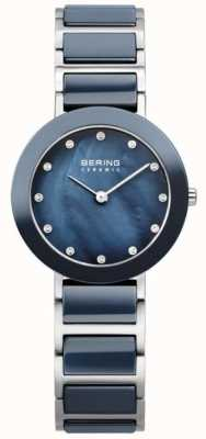 Bering Womens Stainless Steel Navy 11429-787