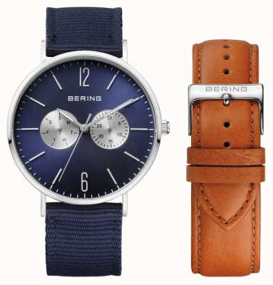Bering Unisex Two Strap Navy Dial 14240-507