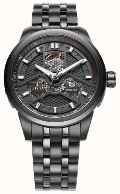 FIYTA Mens Black Coated Stainless Steel Strap GA8460.BBB