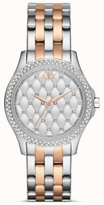 Armani Exchange Ladies Rose Gold and Silver Watch AX5249