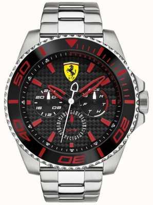 Scuderia Ferrari Men's Steel Multifunction Carbon Fibre Dial Watch 0830311