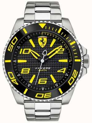 Scuderia Ferrari Mens Metal Strap Black Dial 0830330