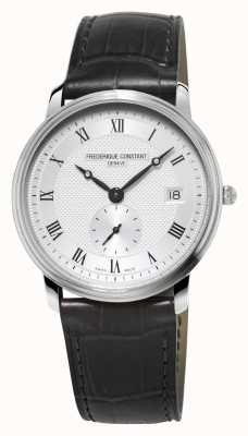 Frederique Constant Slimline Mens Sapphire Glass Black Leather Strap FC-245M4S6