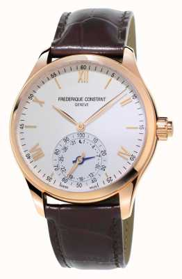 Frederique Constant Horological Smartwatch Brown Leather Rose Gold Plated FC-285V5B4