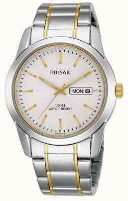 Pulsar Mens Quartz Dual Tone Watch PJ6023X1