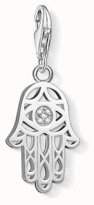 Thomas Sabo Hand Of Fatima Charm White 925 Sterling Silver/ White Diamond DC0030-725-14