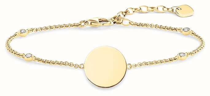Thomas Sabo Bracelet 16.5-19.5cm White 925 Sterling Silver/ Zirconia A1486-051-14-L19,5v
