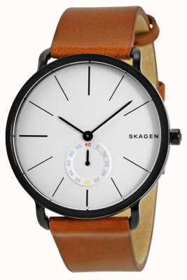 Skagen Men's Leather Strap Watch Hagen SKW6216
