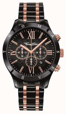 Thomas Sabo Men's Black Rose Gold Stainless Steel WA0196-268-203-43