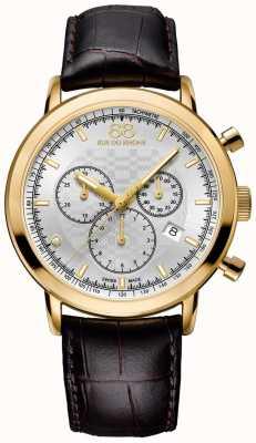 88 Rue du Rhone Mens Diamond Chronograph Brown Leather Strap 87WA154206