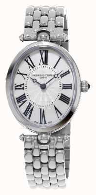 Frederique Constant Womens Art Deco Oval Stainless Steel Bracelet FC-200MPW2V6B