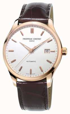 Frederique Constant Mens Classics Index Automatic Brown Leather Strap FC-303V5B4