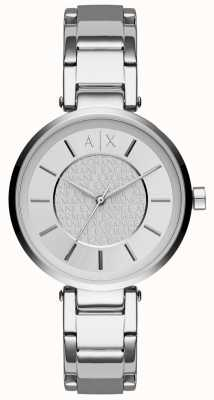 Armani Exchange Womens Stainless Steel Silver Dial AX5315