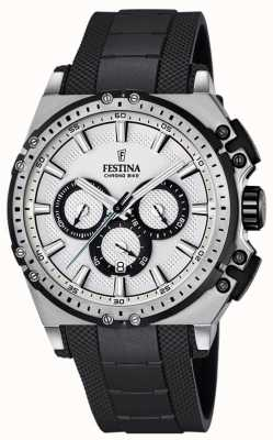 Festina Chronobike Chronograph Watch Mens Silver Dial F16970/1