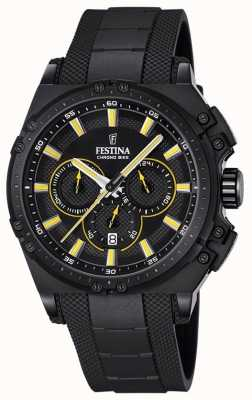Festina 2016 Mens Chronobike Chronograph Watch Yellow And Black F16971/3