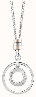 Guess Womens Around The World Stainless Steel Necklace UBN61010