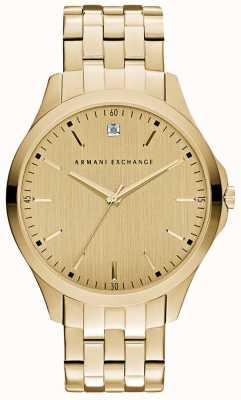 Armani Exchange Mens Hampton Sleek Gold Dial AX2167