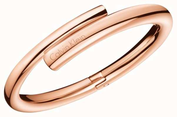 Calvin Klein Womens Scent Rose Gold PVD Bangle KJ5GPD10010S