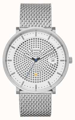 Skagen Mens Hald Solar Powered Stainless Steel Mesh Bracelet SKW6278