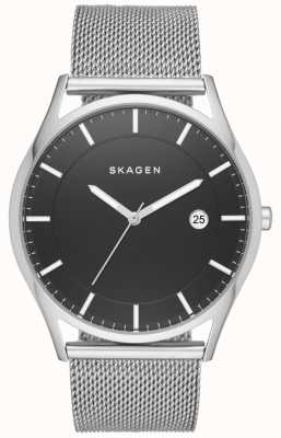 Skagen Mens Holst Stainless Steel Mesh Strap Black Dial SKW6284