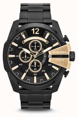 Diesel Mens Mega Chief Black PVD Plated Chronograph DZ4338