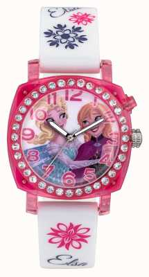 Disney Frozen Elsa And Anna Lightup Pink Case White Silicone Strap FZN3789