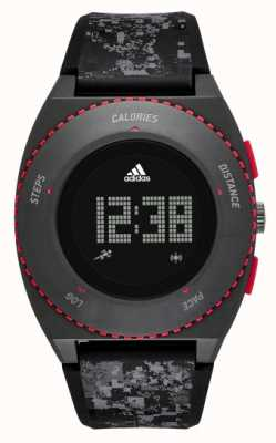 adidas Performance Mens Black Patterned Silicone Strap ADP3258